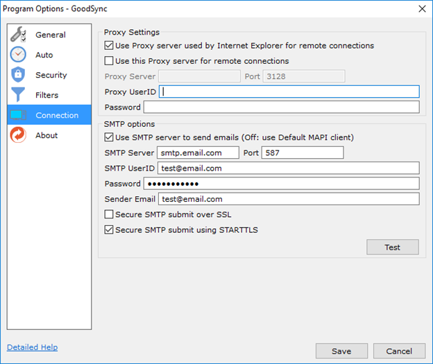 How can I configure my SMTP settings? – GoodSync